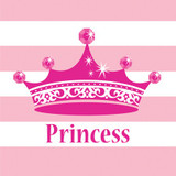 Pink Princess Luncheon Napkins - 16 Pack