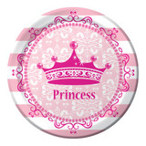 Pink Princess 17.4cm Luncheon Plates - 8 Pack