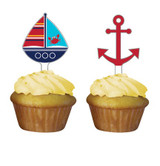 Ahoy Matey Cupcake Toppers - 12 Pack