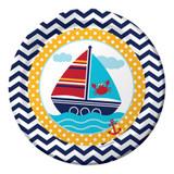 Ahoy Matey 22.2cm Dinner Plates - 8 Pack