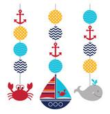 Ahoy Matey Hanging Cutouts - 3 Pack