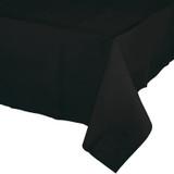 Black Velvet Plastic Tablecover - 137 cm x 274 cm