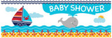 Ahoy Matey Giant Baby Shower Banner - 152cm