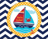 Ahoy Matey Invitations with Envelopes - Pack of 8