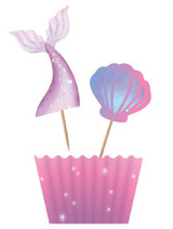 Mermaid Party Cupcake Kit - 12 Pack