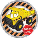 Construction Party Zone 23 cm  Plates - 8 Pack