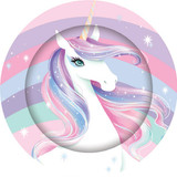Unicorn Party Dinner  Plates - 8 Pack