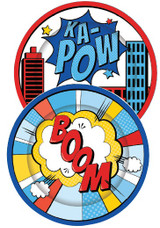 Superhero Party Paper Plates - 8 Pack