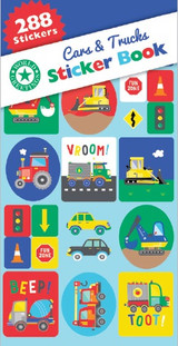 Cars and Trucks Sticker Book - 12 Sheets