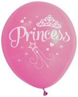 Princess Party Balloons in 3 Colours - 10 Pack