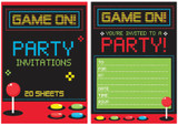 Game On! Gamer Padded Invitations 20 Sheets