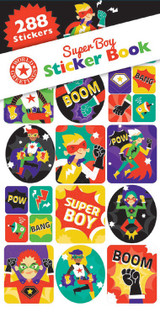 Super Boy Superhero Sticker Book - 12 Sheets
