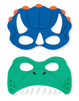 Dinosaur Party Masks - 8 Pack