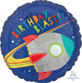 Blast off Birthday Blast Foil Balloon - 43cm