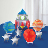 Blast Off Birthday Table Decorating Kit- 8 Pieces
