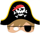 Little Pirate Paper Masks - 8 Pack