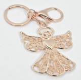 Rose Gold Angel Key Ring
