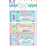 Baby Shower Prize Tickets - 16 Sheets