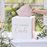 Wedding Card Box with Copper Foil Accent
