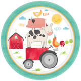 Barnyard Farm Animal Birthday Paper Dinner Plates - 8 Pack