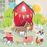 Barnyard Farm Animal Birthday Table Decorating Kit