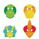 Dino Party Foam Masks - 4 Pack
