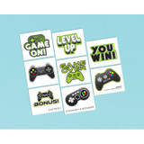 Level Up Gamer Tattoos - Pack of 8