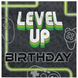 Level Up Gamer Lunch Napkins - 16 Pack