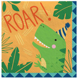 Dino-Mite Dinosaur Lunch Napkins - 16 Pack