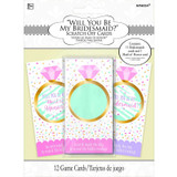 """Will You Be My Bridesmaid"" Scratch off Cards - 12 Pack"