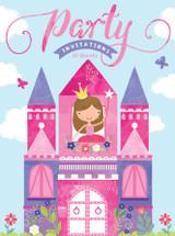 Princess Padded Invitations - 20 Sheets