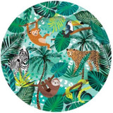 Jungle Party Plates - 8 Pack