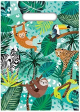 Jungle Party Loot Bags - 8 Pack