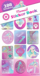 Mermaid Sticker Book -12 Sheets