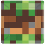 Minecraft Inspired TNT Party 17.8 cm Square Lunch Plates - 8 Pack