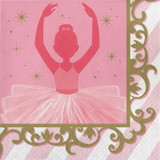Twinkles Toes Ballerina Lunch Napkins - 16 Pack