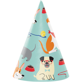 Dog Party Paper Hats - 8 Pack