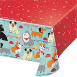 Dog Party Plastic Table Cover - 137cm x 259cm