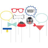 Dog Party Photo Booth Props - 10 Pack
