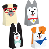 Dog Party Paper Treat Bags - 8 Pack