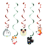 Dog Party Dizzy Danglers - 5 Pack
