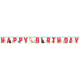 Dog Party Happy Birthday Jointed Banner - 2.18 Metres