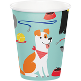 Dog Party Paper Cups - 8 Pack