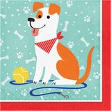 Dog Party Lunch Napkins - 16 Pack