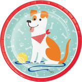 Dog Party 22.2cm Dinner Plates - 8 Pack