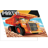 Big Dig Construction Invitations with Envelopes -8 Pack