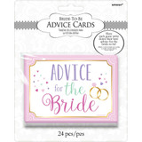 Bride to be Advice Cards Bridal Shower Game - 24 Cards