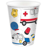 First Responders Emergency Services Paper Cups - 8 Pack