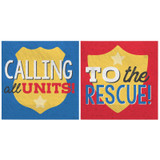 First Responders Emergency Services Beverage Napkins - 16 Pack