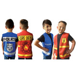 First Responders Emergency Services Police and Fire Department Vests - 4 Pack